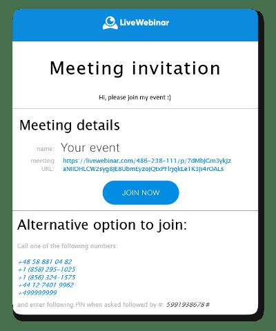 Invite Participants