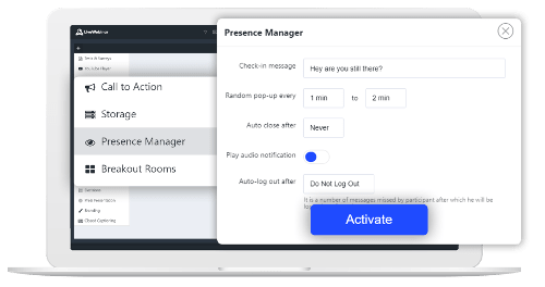 LiveWebinar Presence Manager