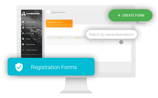 Webinar Registration Forms